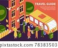 Travel Guide Isometric Illustration 78383503
