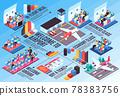 Airplane Travel Isometric Infographics 78383756