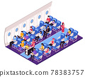 Aircraft Interior Isometric Composition 78383757