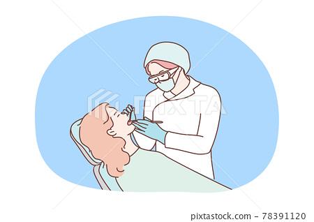 Health, care, medicine, dentistry, healing concept 78391120