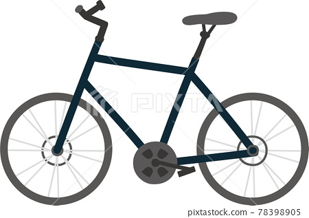 Black fashionable cross bike 78398905