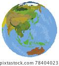 像素風格的世界地圖 78404023