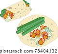 潤餅與內餡的插圖 78404132