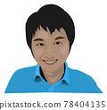 亞洲男性的特寫插圖 78404135
