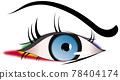 單隻眼睛的特寫插圖 78404174