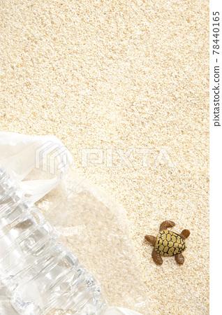 Sandy beach marine debris environmental protection plastic [miniature toys] 78440165