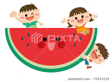 watermelon, younger, vector 78454229