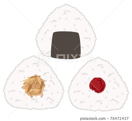 rice ball, vector, vectors 78472437