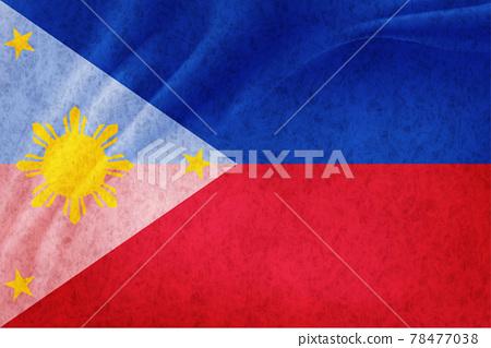 Philippine flag Japanese paper background 78477038
