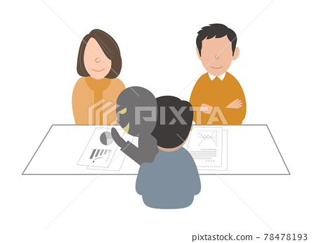 Scam fraud real estate consultation counter person 78478193
