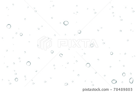 Oxygen air bubbles  flow  in water on white  background. 78489803