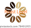 커피, 커피 콩, 로고 78491955