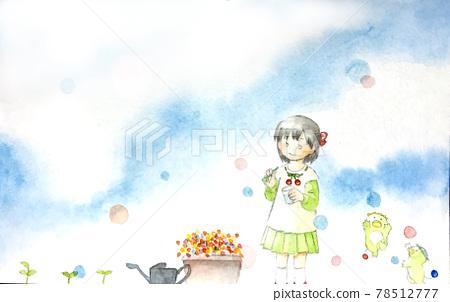 soap bubbles, soap bubble, girl 78512777