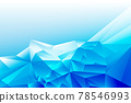Abstract blue white geometric poly triangle shape background 78546993