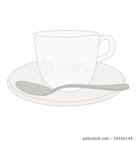 Coffee cup and spoon 78580149