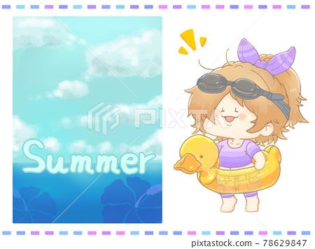 여름, 여성, 여자 78629847