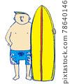 男子拿著衝浪板 78640146
