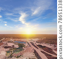 Aerial view of opencast mining quarry in Florida 78651338