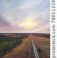 Railroad in a rural Florida area. Aerial landscape. 78651339