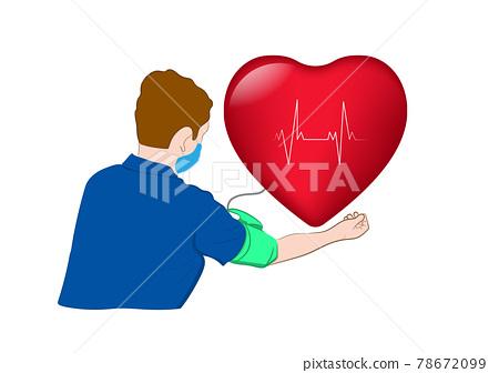 graphics image doctor check measuring blood pressure concept healthcare vector illustration 78672099