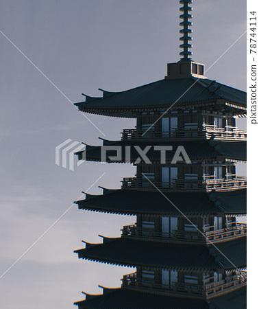 Historical Japanese Pagoda 78744114