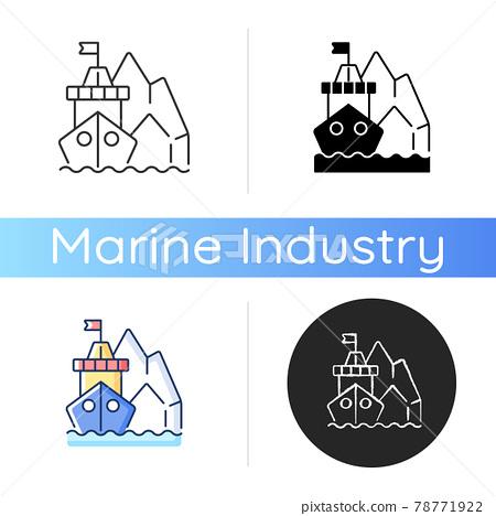 Arctic exploration icon 78771922