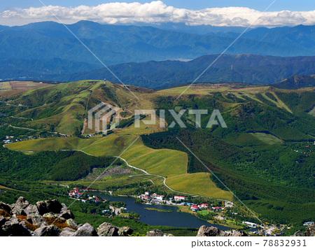 霧峰半天然草原和白樺湖(立科山遠眺) 78832931
