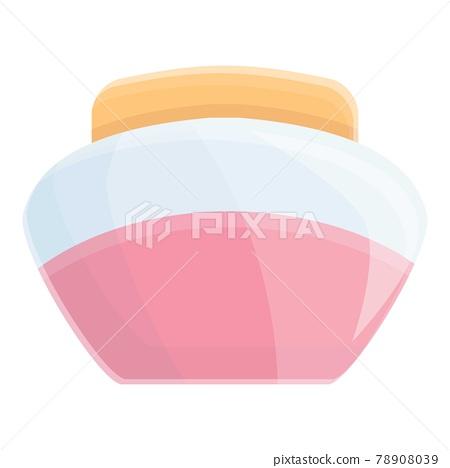 Korean nourishing cream icon, cartoon style 78908039