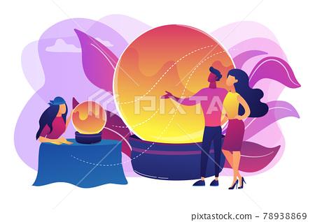 Fortune telling concept vector illustration 78938869