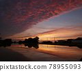 Paddy field before rice planting Sunset reflection perming210620 Stock photos 78955093