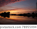 Paddy field before rice planting Sunset reflection perming210620 Stock photos 78955094