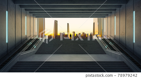 Businessman climbing stairs. Ambitions concept . 78979242