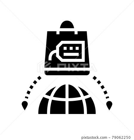 shopping tourism glyph icon vector illustration 79062250