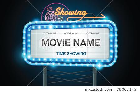 light sign billboard cinema theatre 79063145