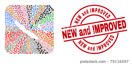 New and Improved Badge and New Caledonia Islands Map Hole Mosaic 79116897