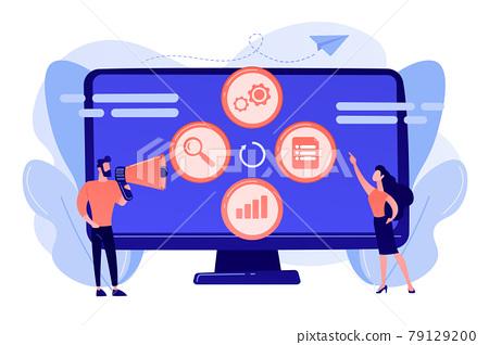 Marketing campaign management concept vector illustration. 79129200