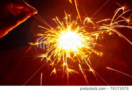 불꽃 놀이, 여름, 야외 79173078