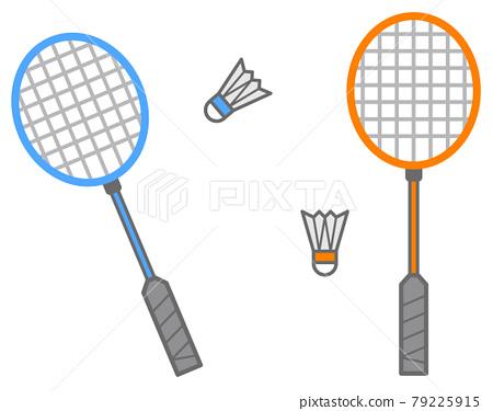 Illustration of badminton tools to enjoy in sports 79225915