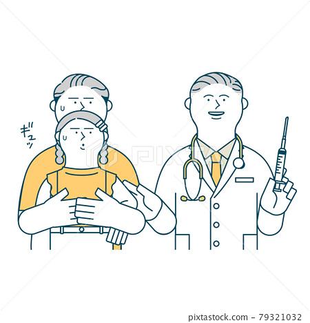 parenthood, parent and child, vaccination 79321032