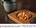 kaki seed, rice cracker, bean candy 79341674