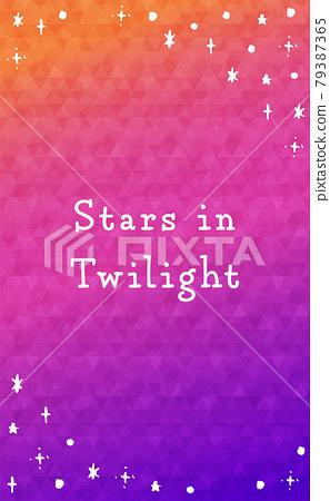 신비로운 밤하늘의 세로 배너 (Stars in twilight) 79387365