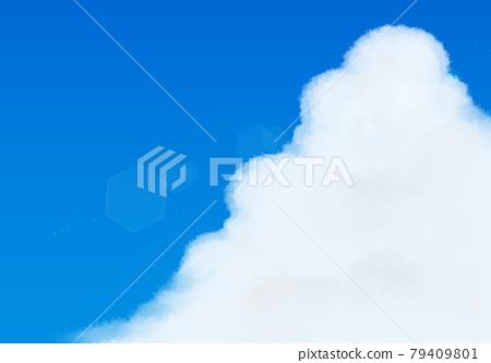 Blue Sky and Ice Cloud 79409801