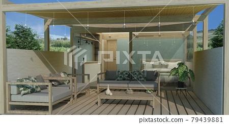 terrace, terraces, wooden deck 79439881