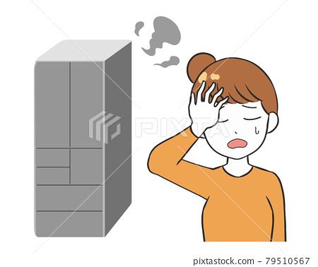Refrigerator breakdown woman 79510567