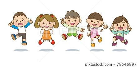 孩子們跳 79546997