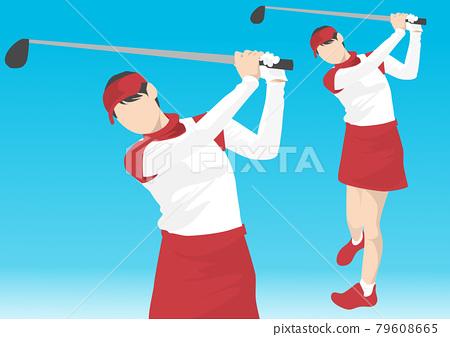 Golf girls 79608665