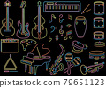 neon, Musical Note, vector 79651123