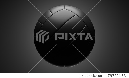 Black volleyball isolated on gray background. 79723188