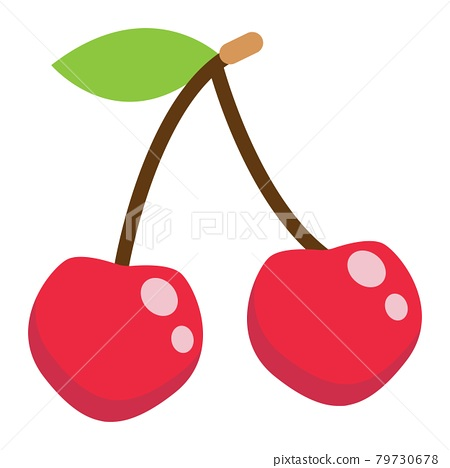 Cherry flat icon, fruit and diet, vector graphic 79730678