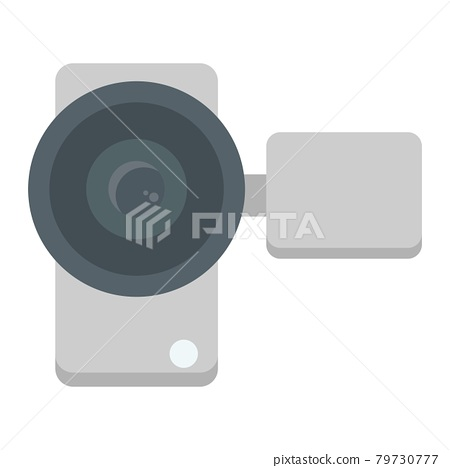 Video camera flat icon, device and electronic 79730777